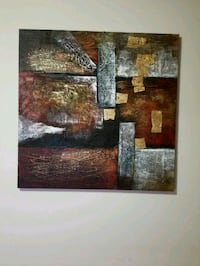 Large abstract canvas painting  Toronto, M5V 3N2