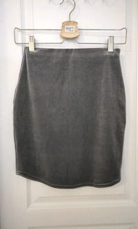 grey velvet mini skirt Markham, L6C 2V7