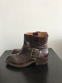 Cowboy BOOTS BURGUNDY LEATHER - NINE WEST Millers Point, 2000