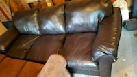Leather couch , 3 seater  Barrie