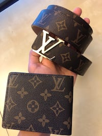 Louis Vuitton Brown Belt and Wallet for sale Calgary, T3K 4W4