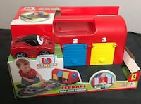 BB JUNIOR car Ferrari Roll-Away Raceway, 16-88806  Brand new in the bo Toronto