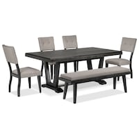 brown wooden dining table set 544 km