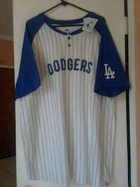 white and blue Dodgers jersey. Brand new size xxl