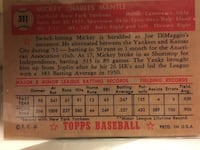 Mickey Mantle Rookie Card  Topps Reprint 354 mi