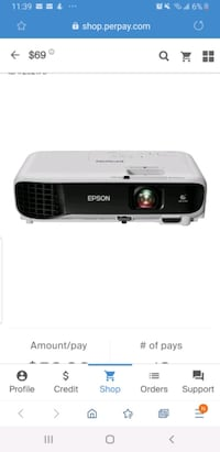 Brand new projector in the box