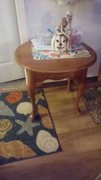 brown wooden round table with chair Kansasville, 53139