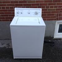 White top-load clothes washer Toronto, M9B 1G5