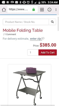Mobile folding table  by customer minded Centennial, 80112
