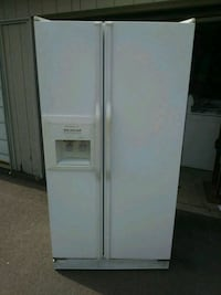 white side-by-side refrigerator with dispenser Flint, 48507