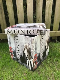 Marilyn Monroe storage box.. folds flat , great for keeping books , sweaters , dvds .. bought in Europe and brought home and never used yet .. Surrey, V3Z