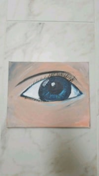 Acrylic/oil mixed media eye painting Novi