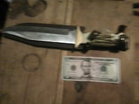 brown handle bowie knife