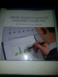 Applied research methods in Business Course PKG  Mississauga, L5M