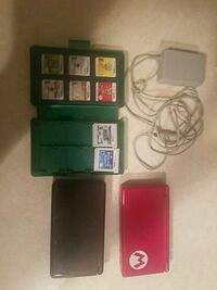 red Nintendo DS black 3ds with games  Crystal Lake, 60014