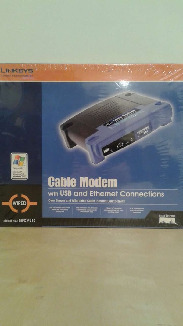 Linksys cable modem NEW 0