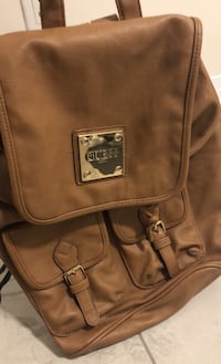 guess back pack ( leather)