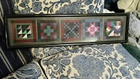 Miniature Amish quilt collection - framed Damascus, 20872