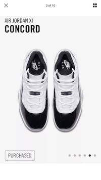 Air Jordan 11 concord brand new with box size 7y 544 km