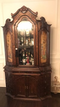 brown wooden framed glass display cabinet Vaughan, L6A 0G2
