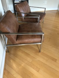 2 leather chairs from cb2 Alexandria, 22314