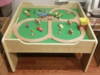 Wooden Train Set with Table and drawer.  Vaughan, L4J 5W3