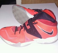 Salmon colored Nike lebrons