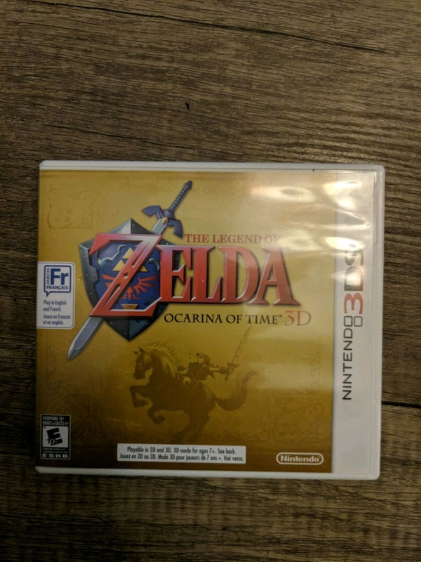 nintendo 3ds zelda game case