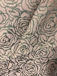 Light green and gold floral textile curtains 54x94inc Toronto, M3A 3M3