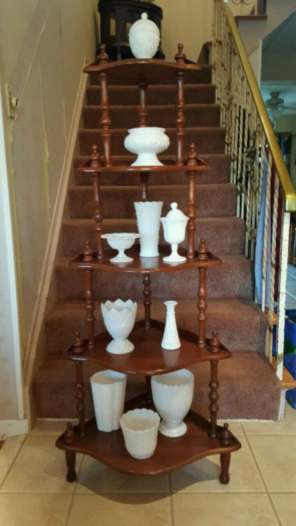 Milk Glass Dishes, Vases and Candle Stick