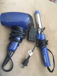 Hair dryer and curling iron