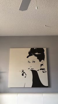 black and white woman painting Brampton, L7A 3E8