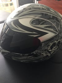 Gray, black and white full faced motorcycle helmet Orlando, 32826