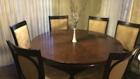 Brown wooden dining table set ( ppu )