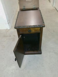 brown wooden side table with drawer Severn, 21144