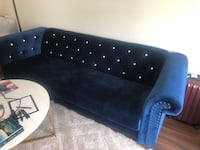 Royal blue couch with stones Mc Lean, 22102