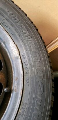 Winter tires with rim in good condition  Whitby