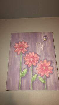pink and white flower painting Los Angeles, 91304