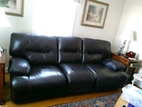 black leather 3-seat sofa Beltsville, 20705