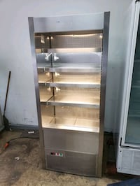 "commercial 34"" open air cooler case merchandiser"