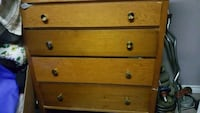 Brown wooden 3-drawer chest London, N6E 2B2
