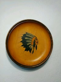 """12"""" in diameter hand painted wood wall decor Victoria, V9A 6A6"""