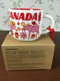 """Starbucks """"Canada"""" 2 oz orangament been there series collectible"""