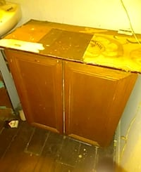 brown wooden cabinet with drawer 1196 mi