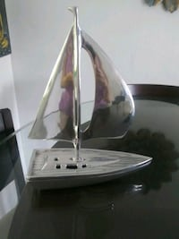 Pier 1 Imports large silver sailboat two pieces heavy Miami, 33126