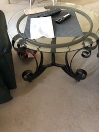 Beautiful Wrought Iron, Glass Top Table Manchester