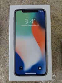 Black iphone x with box Tampa