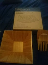 pampered chef 2254 large bamboo square bowl with b Harford County, 21085