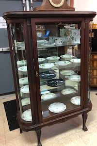Curved Glass Bow front Curio Cabinet  Warrenton