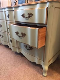 Tiffany blue wooden 9-drawer chest Ashburn